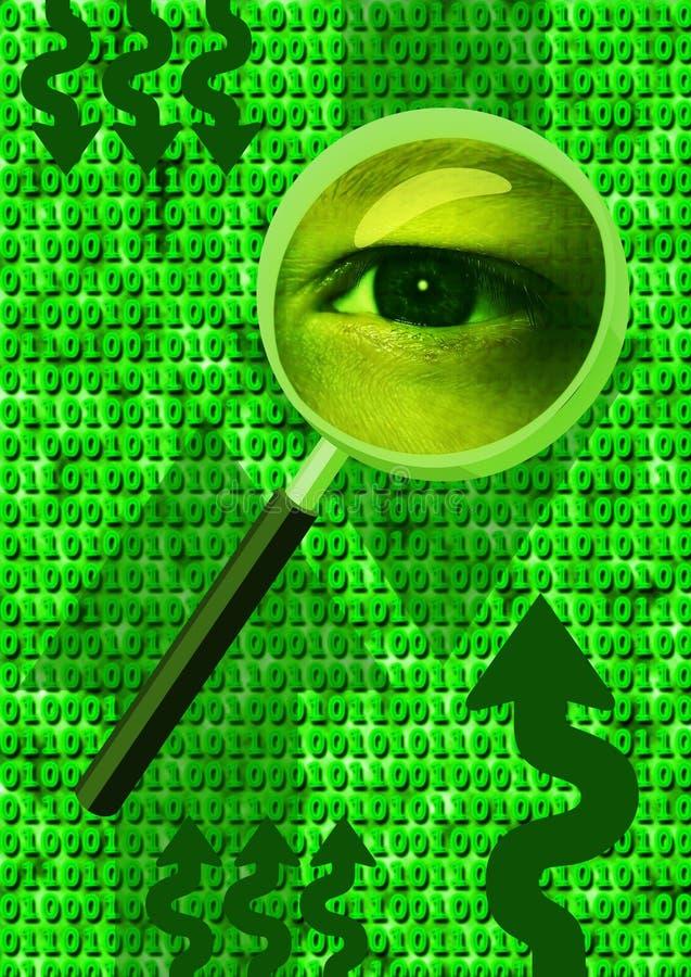 Het analyseren van oog stock illustratie