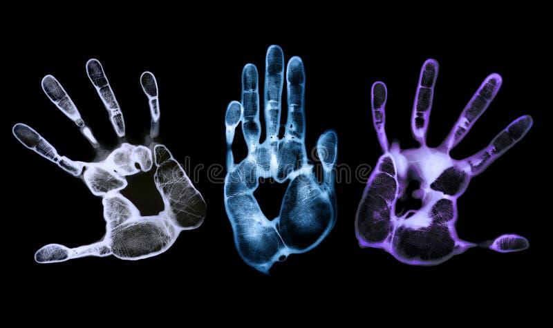 Het angstaanjagende Af:drukken van de Hand royalty-vrije stock afbeelding