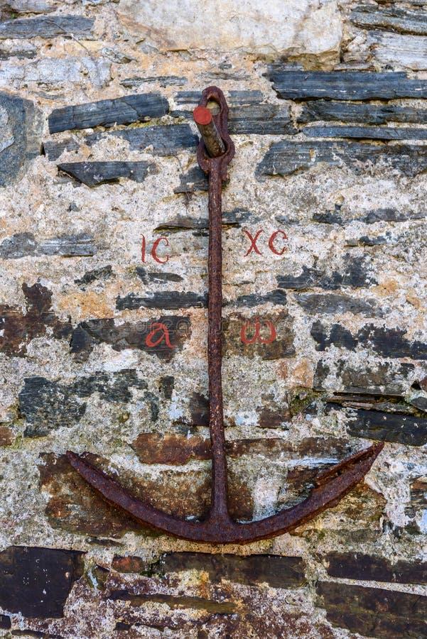 Het anker is een symbool van redding stock afbeeldingen