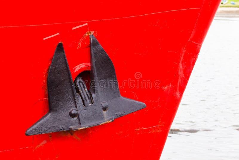 Het Ankerrood van de schipboog stock foto
