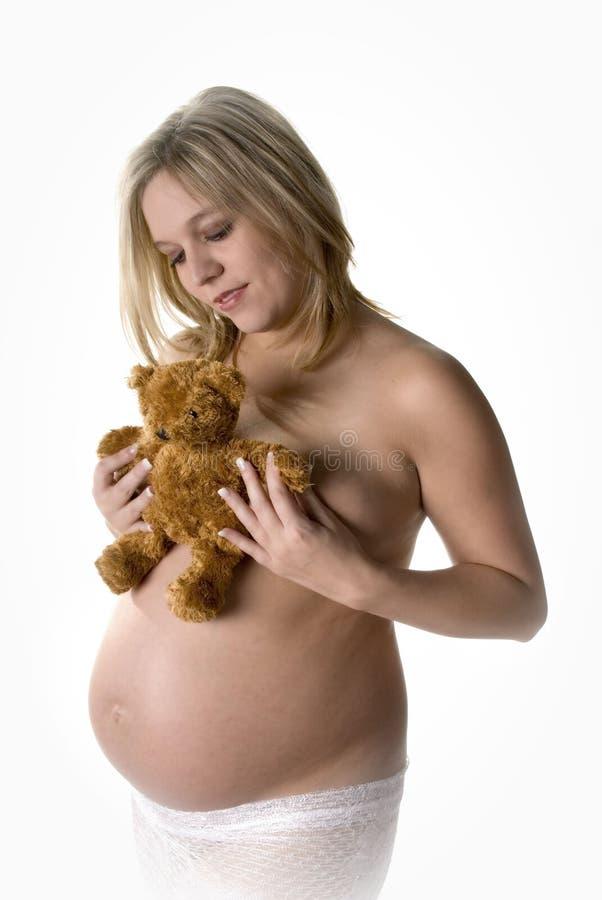 Het anticiperen van de teddybeer royalty-vrije stock foto's