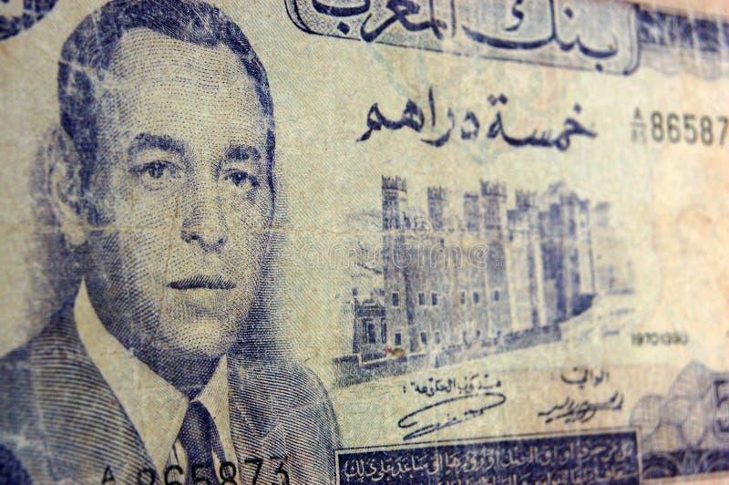 Het Antieke Bankbiljet Van Farouk Van De Koning, Marokko Royalty-vrije Stock Afbeelding
