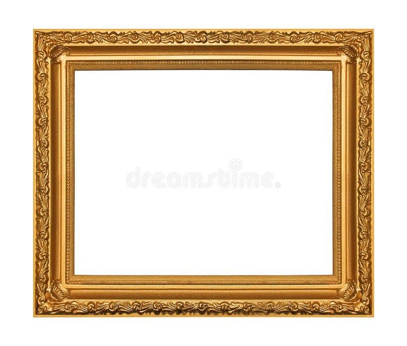 Het antieke gouden frame stock afbeeldingen