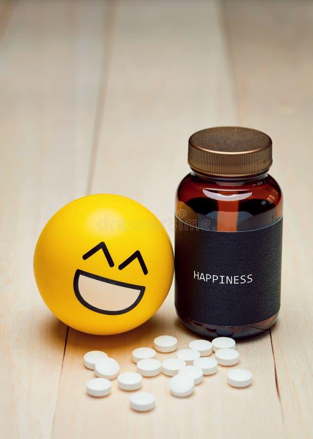 Het antigebruik en het geluk van de kalmeringsmiddeldrug royalty-vrije stock afbeeldingen