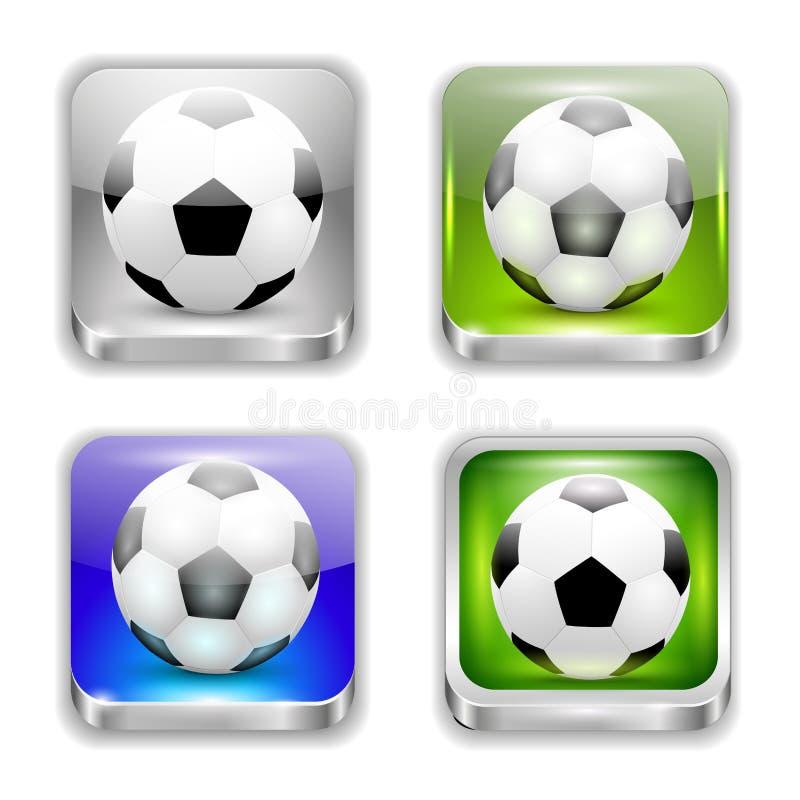 Het app pictogram-voetbal royalty-vrije illustratie