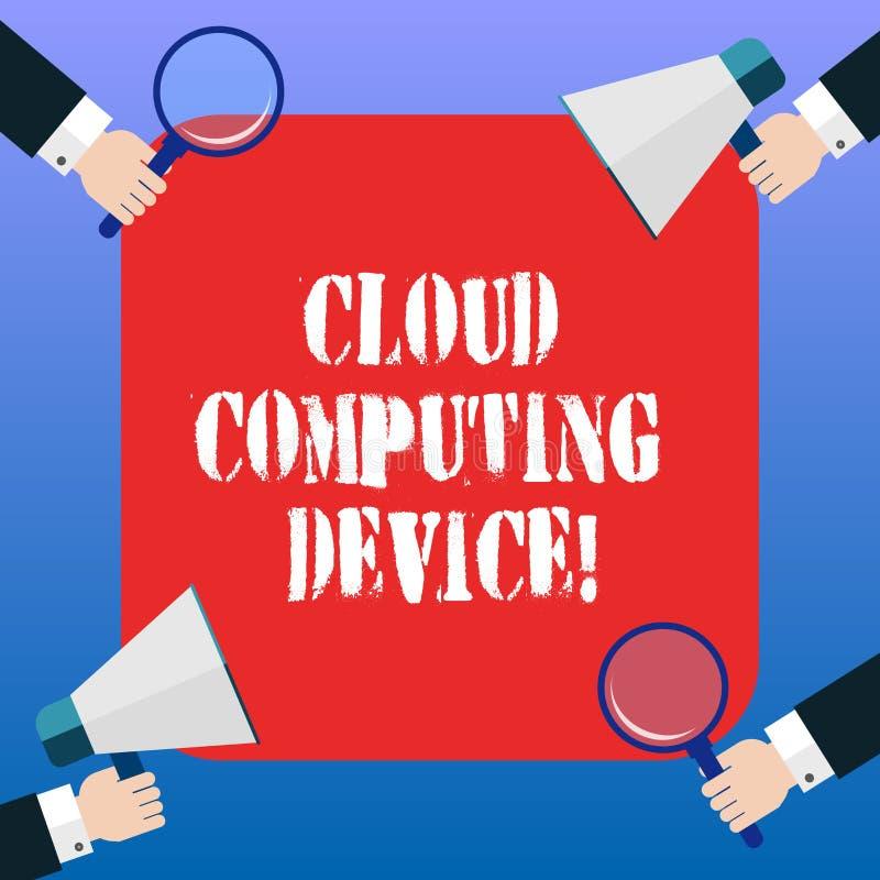 Het Apparaat van Cloud Computing van de handschrifttekst Conceptenbetekenis Gedeelde pools van configureerbaar computersysteemmid stock illustratie