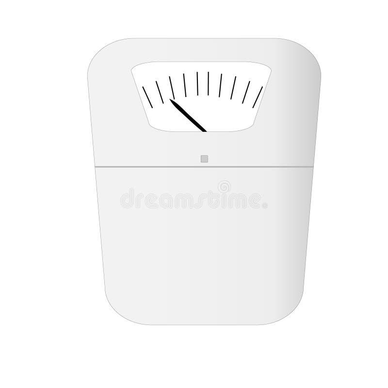 Het apparaat van de gewichtsschaal stock illustratie