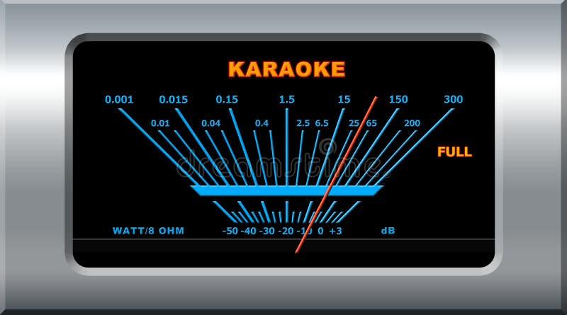 Het apparaat van de karaoke stock illustratie