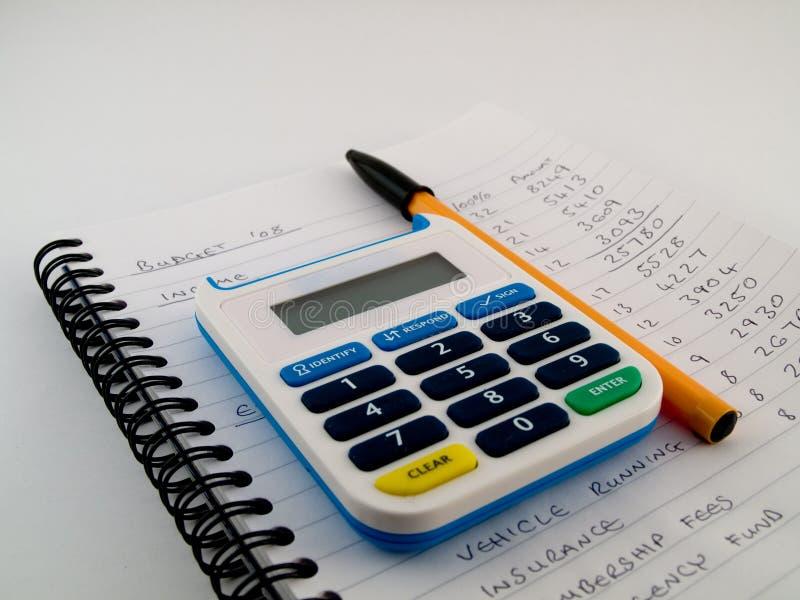 Het Apparaat van de Veiligheid van het Aantal van de Speld van de bank op het Blad van de Begroting royalty-vrije stock afbeeldingen