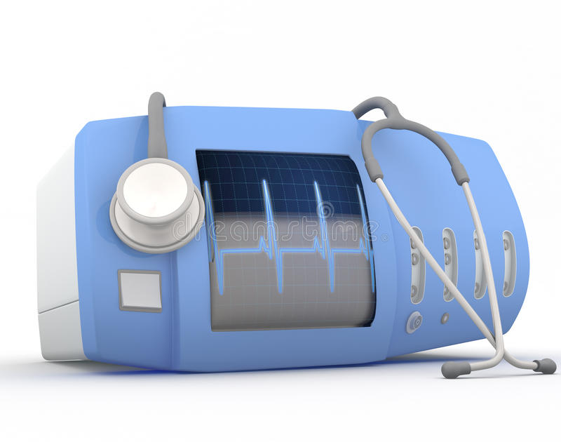Het apparaat van het elektrocardiogram stock illustratie
