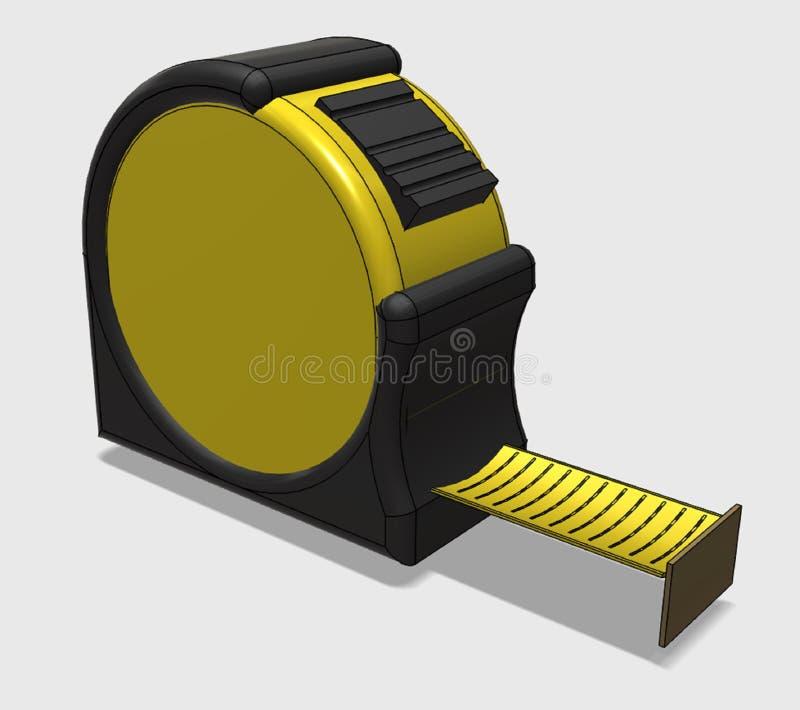 Het apparaat voorgenomen voor meting van lengte stock afbeelding