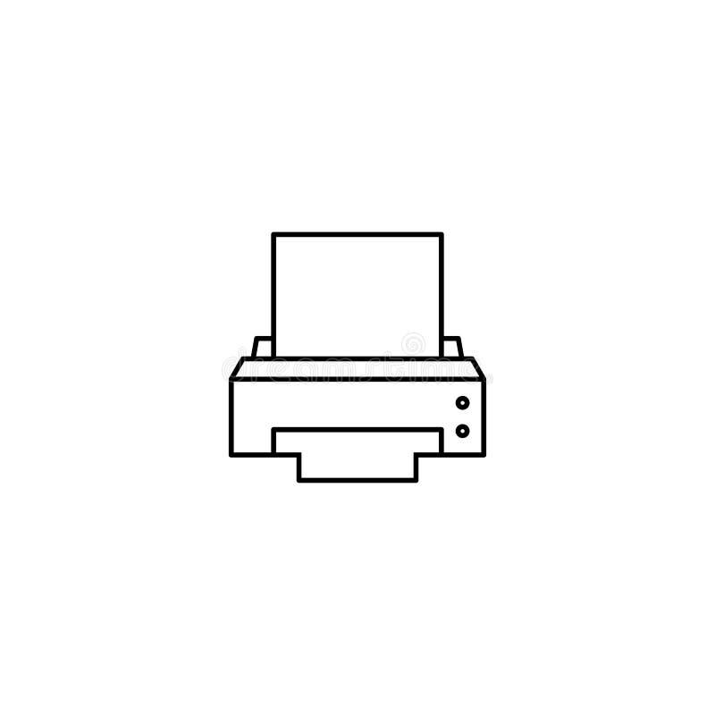 Het apparatenpictogram van de computerprinter vector illustratie