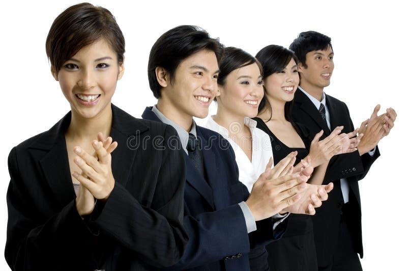 Het Applaus van het team stock foto's