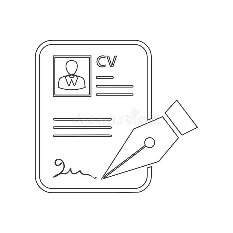 Het approvevent pictogram van cv Element van u voor mobiel concept en webtoepassingenpictogram Overzicht, dun lijnpictogram voor  vector illustratie
