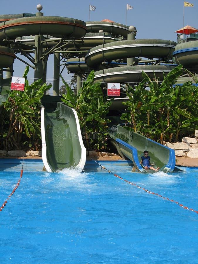 Het aqua-park van het vermaak royalty-vrije stock foto's