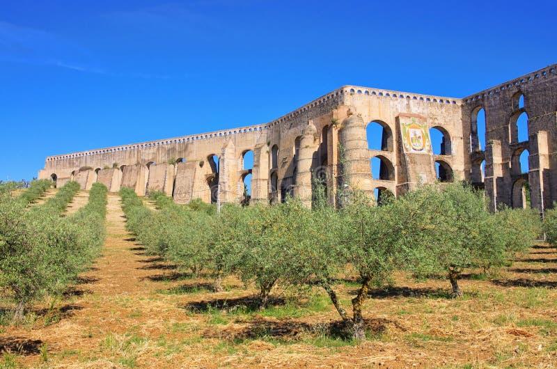 Het Aquaduct van Elvas royalty-vrije stock afbeeldingen