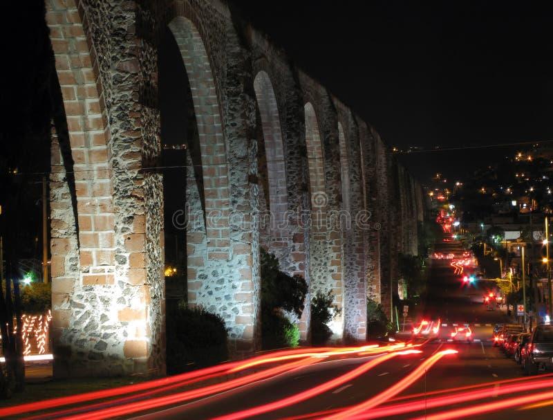 Het Aquaduct van Queretaro royalty-vrije stock fotografie