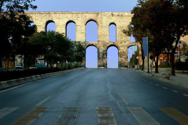 Het aquaduct van Valens, Istanboel royalty-vrije stock foto