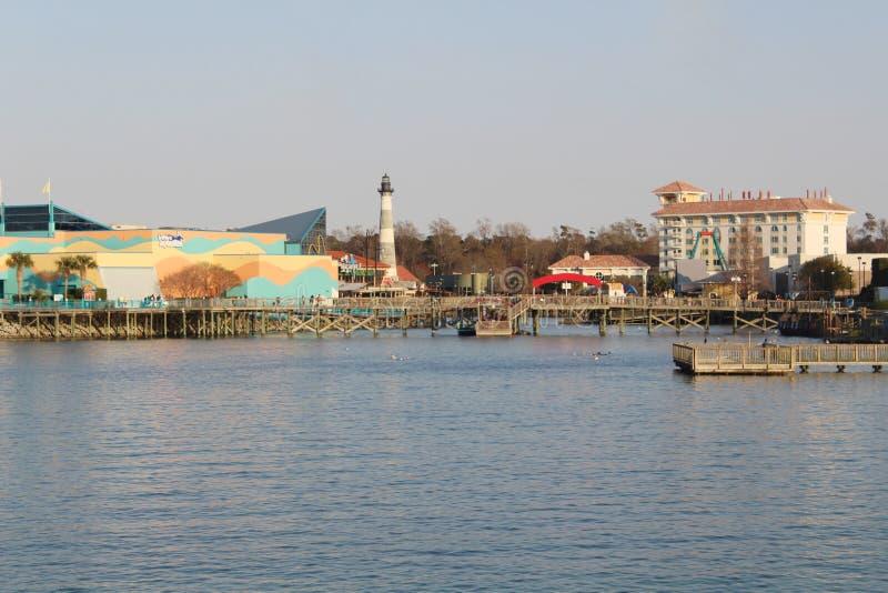 Het Aquarium van Ripley bij de pijler in Myrtle Beach stock fotografie