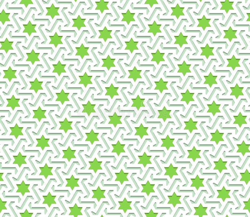Het Arabische patroon kleurde naadloos ornament vector illustratie