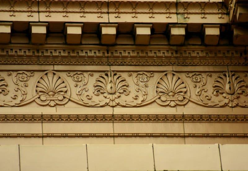 Het architecturale detail van de oude Elanden brengt Zaal onder stock afbeeldingen