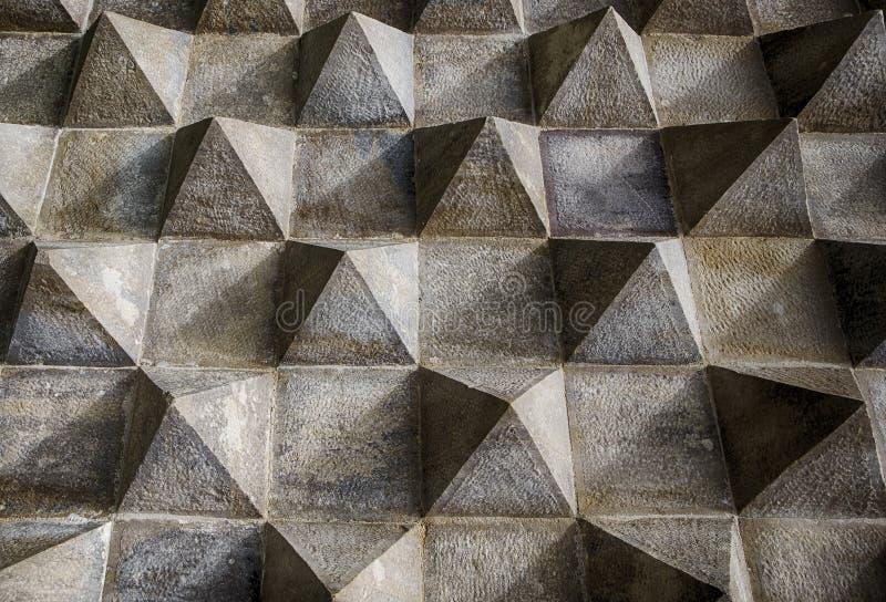 Het Architecturale Detail van het piramidepatroon royalty-vrije stock afbeeldingen
