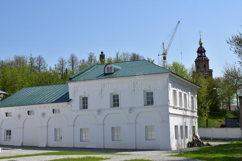 Het architecturale ensemble van de Kostroma-reeks heeft voor verscheidene decennia gebouwd stock foto's
