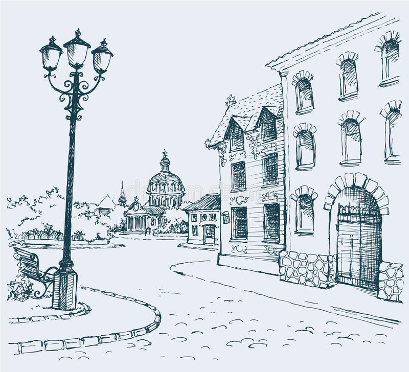 Het architecturale landschap vector illustratie