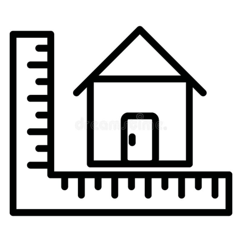 Het architecturale project isoleerde Vectorpictogram dat zich gemakkelijk kan wijzigen stock illustratie