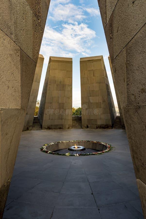 Het Armeense Volkerenmoordgedenkteken aan slachtoffers van de Armeense Volkerenmoord royalty-vrije stock foto