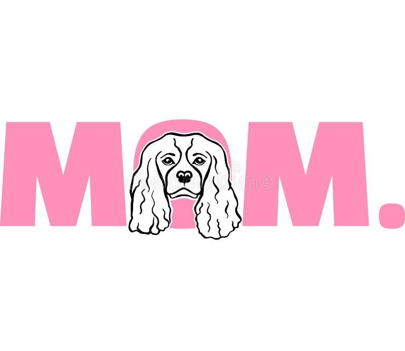 Het arrogante mamma van KoningsCharles in roze vector illustratie