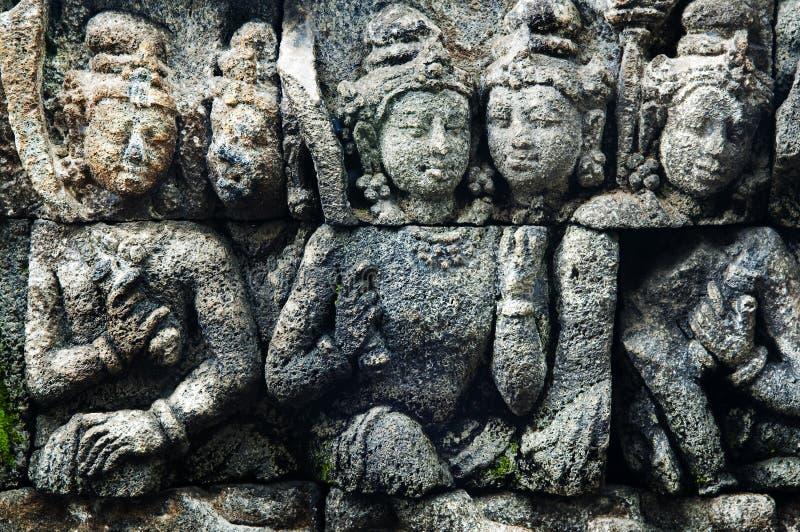 Het art. van Borobudur. stock fotografie