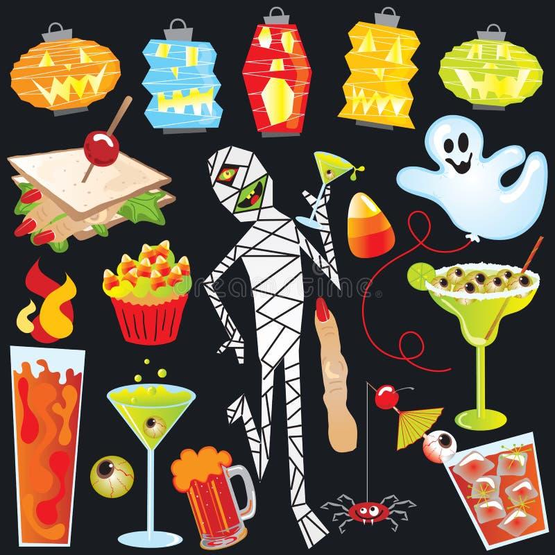 Het art. van de de partijklem van Halloween vector illustratie