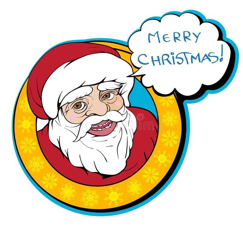 Het art. van de kerstmanklem royalty-vrije illustratie