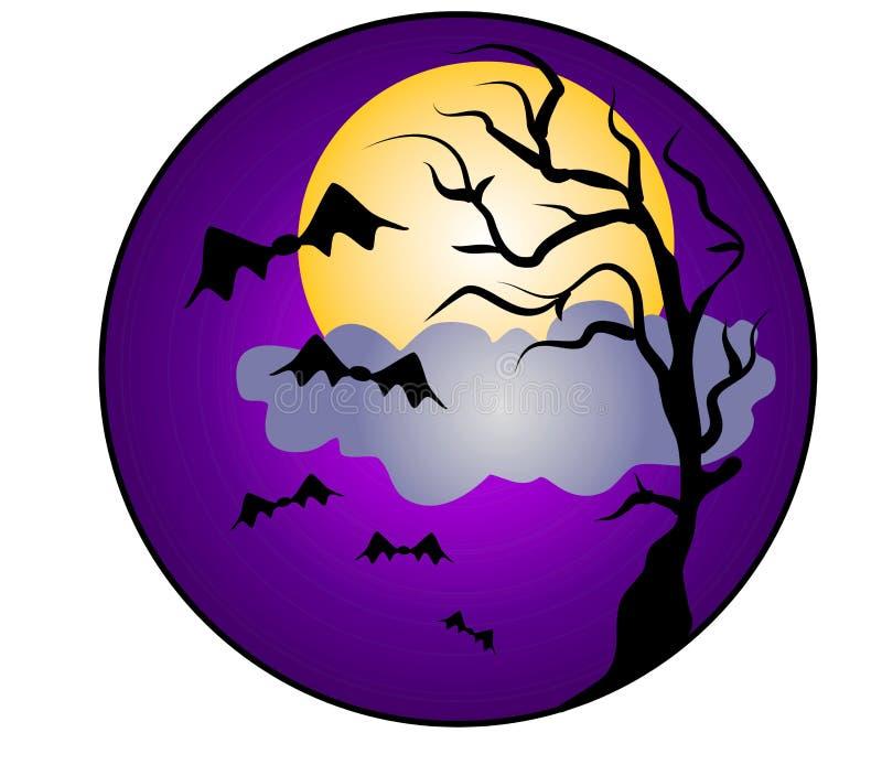 Het Art. van de Klem van de Knuppels van de Nacht van Halloween stock illustratie