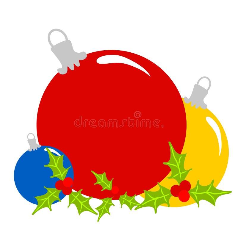 Het Art. van de Klem van de Ornamenten van Kerstmis stock illustratie