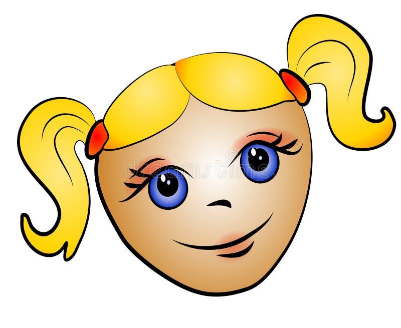 Het Art. van de Klem van het Meisje van de Peuter van de blonde stock illustratie
