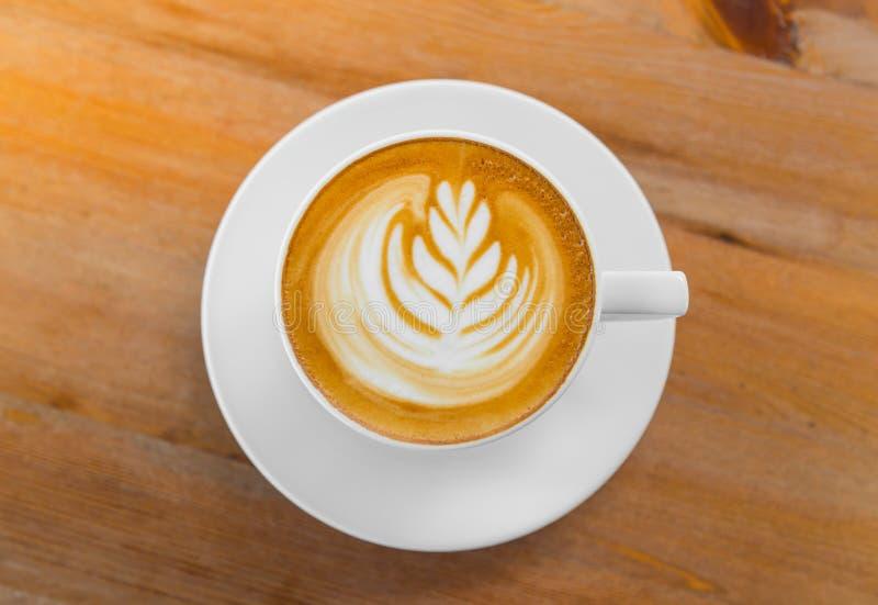Het art. van de Lattekoffie stock fotografie
