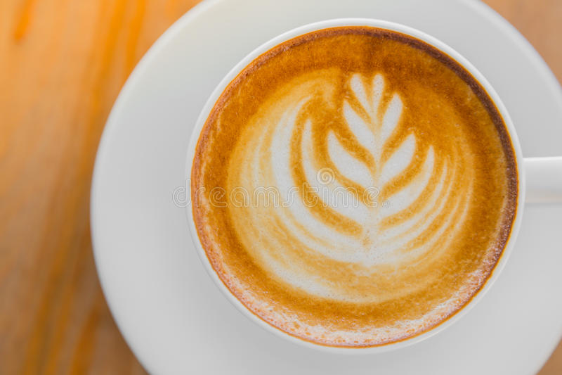 Het art. van de Lattekoffie stock foto