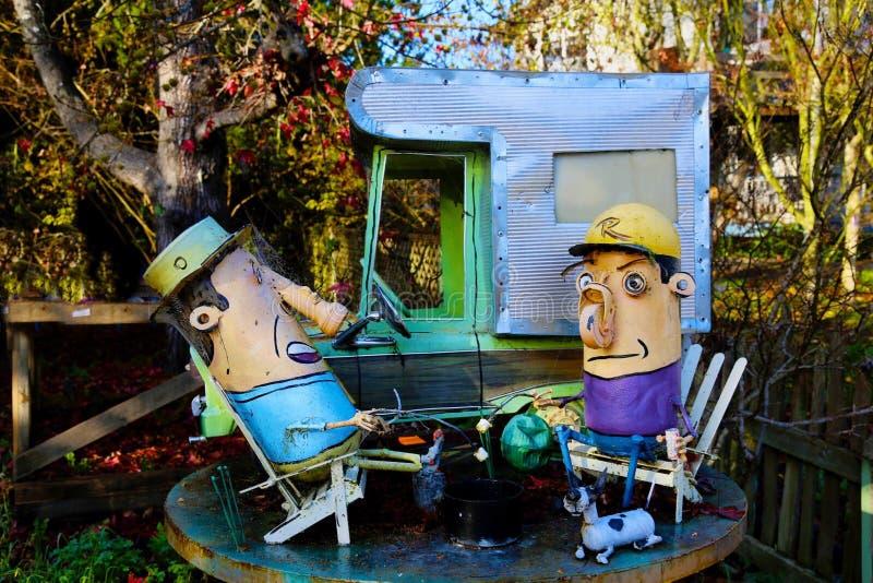 Het art. van het de kunstafval van de kampeerauto'stroep royalty-vrije stock afbeelding
