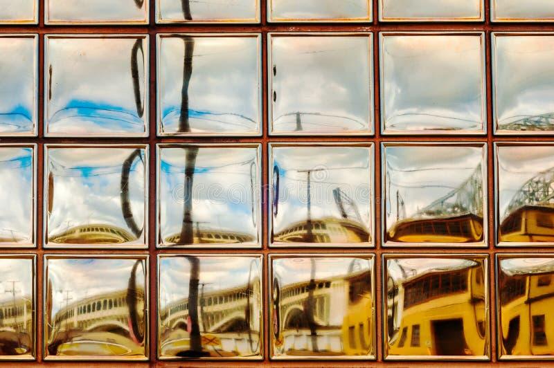 Het art. van het glasblok royalty-vrije stock afbeeldingen