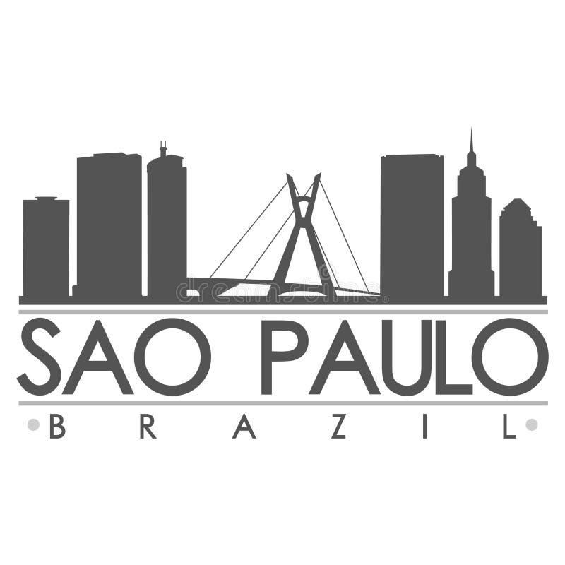 Het Art. van Saopaulo silhouette design city vector