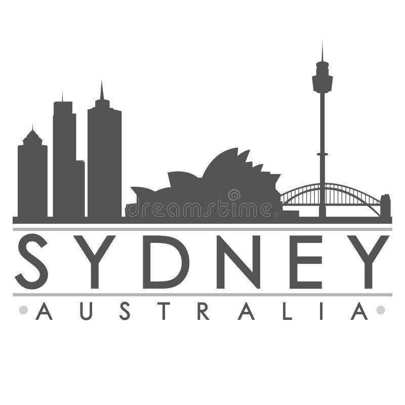 Het Art. van Venetië Sydney Silhouette Design City Vector vector illustratie