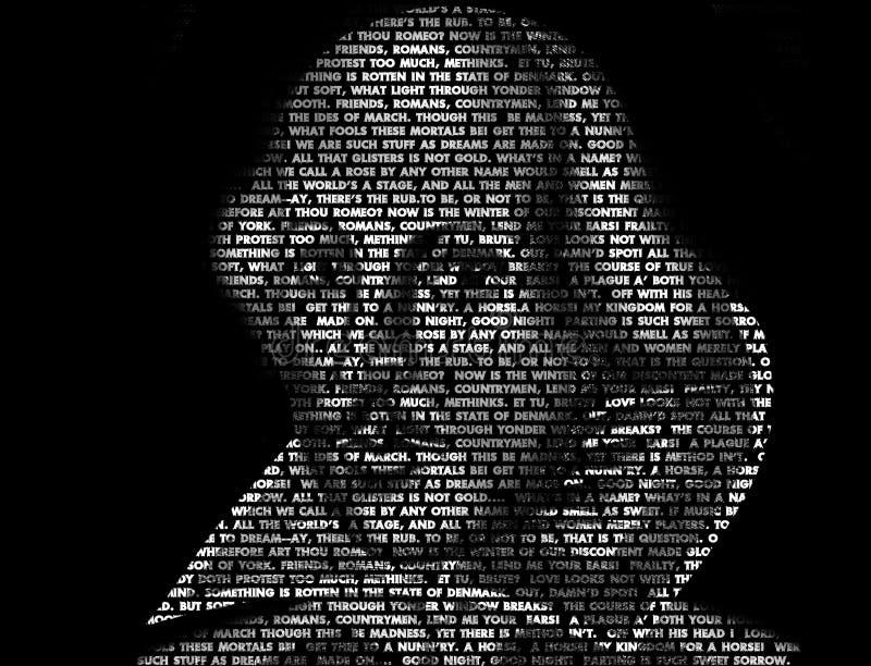 Het Art. van Word van Shakespeare vector illustratie
