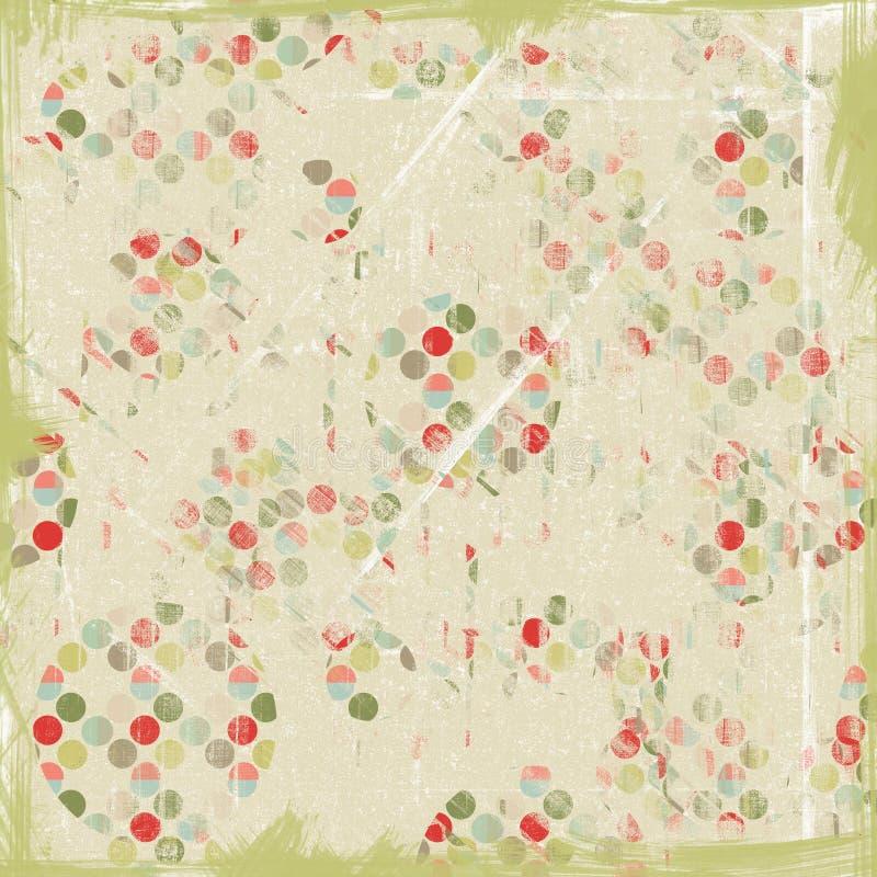 Het artistieke Document van de Bal van de Confettien van Kerstmis vector illustratie