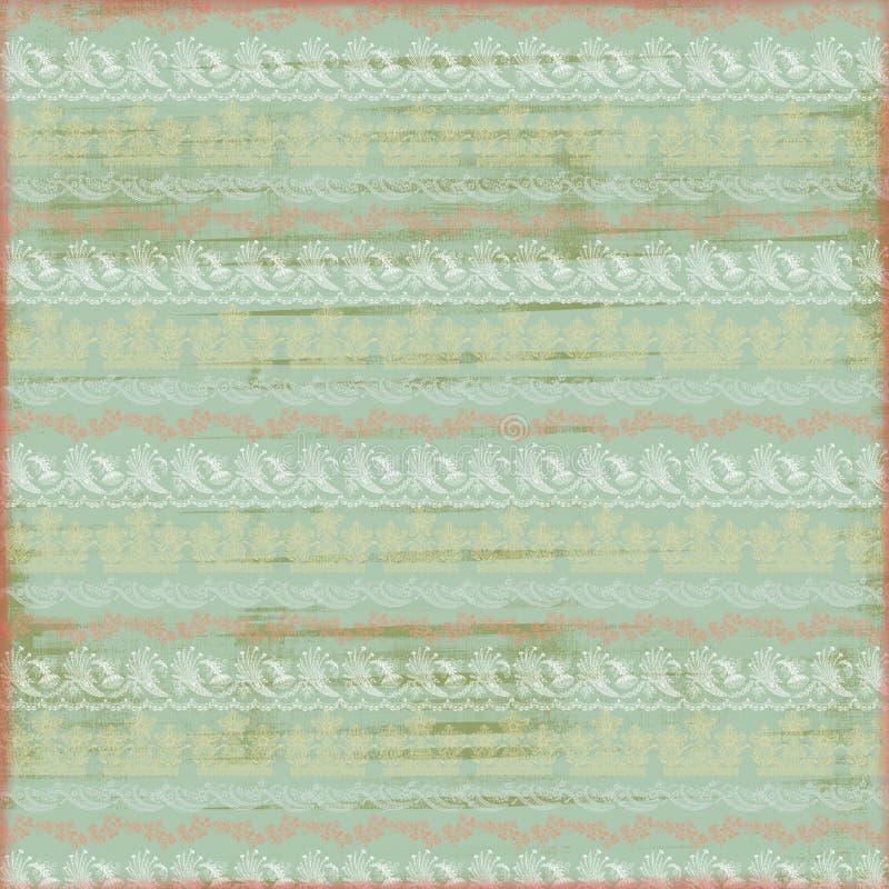 Het artistieke Sjofele Kant Gestempelde Document van de Pastelkleur royalty-vrije illustratie