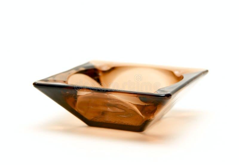Het Asbakje van het glas stock fotografie