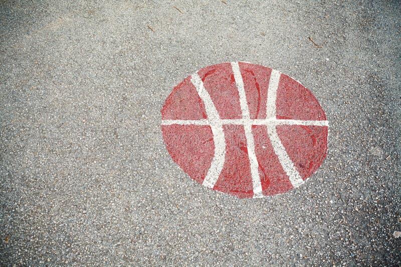 Het Asfalt van de basketbalbinnenplaats royalty-vrije stock fotografie