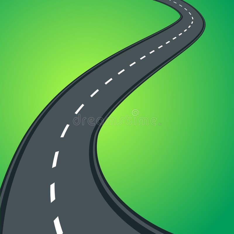 Het asfaltweg van Curvy stock illustratie