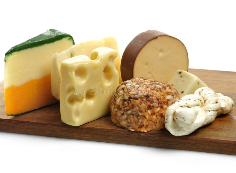Het Assortiment van de kaas stock fotografie